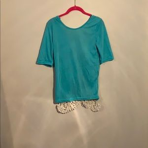 Tops - Lace back shirt